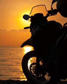 motorcycle-sunset